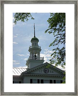 Dartmouth Hall Tower Framed Print