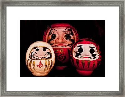 Daruma Framed Print by Daniel Hyman