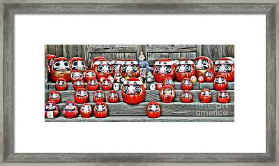 Daruma Dolls Framed Print by Delphimages Photo Creations