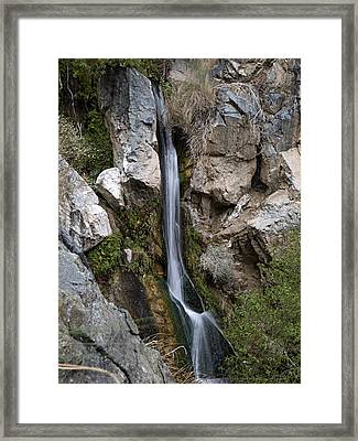 Framed Print featuring the photograph Darwin Falls by Joe Schofield