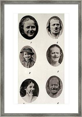 Darwin On Human Emotions Framed Print