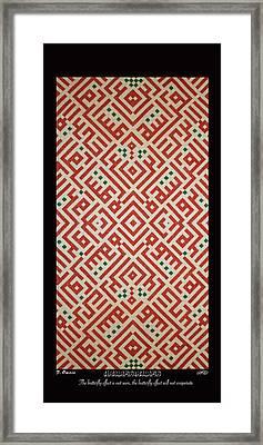 Darwishiyat Butterfly Effect Framed Print