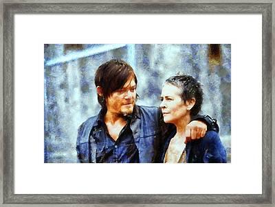 Daryl And Carol  Framed Print by Janice MacLellan