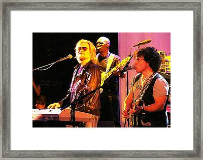 Daryl Hall And Oates In Concert Framed Print by Alice Gipson