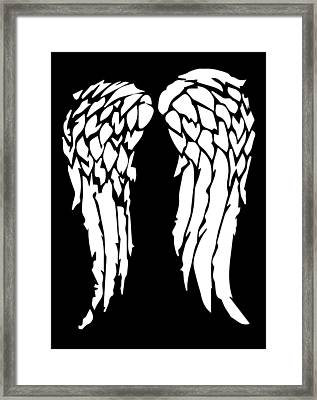 Daryl's Wings Framed Print
