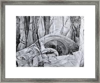 Das Monster Hat Sich Im Ungebuegelten Hintergrund Versteckt Framed Print by Otto Rapp