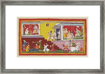 Dasaratha Tells Rama He Will Be Regent Framed Print