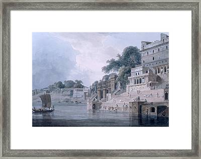 Dasasvamedha Ghat, Benares, Uttar Framed Print by Thomas & William Daniell