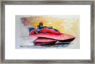 Dash And Splash Framed Print by William Walts