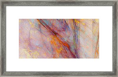 Dash Of Spring - Abstract Art Framed Print