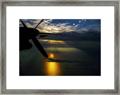 Dash Of Sunset Framed Print