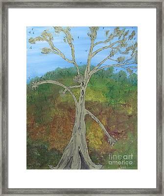Dash The Running Tree Framed Print
