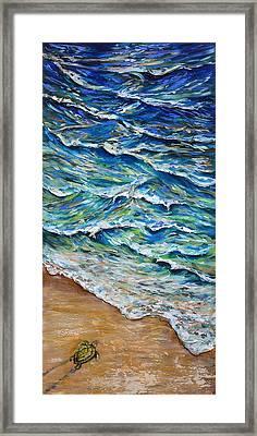 Dash To The Tide Framed Print