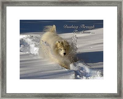 Dashing Through The Snow Framed Print by Lois Bryan