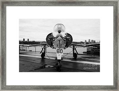 Dassault Etendard Iv M Ivm On Display On The Flight Deck At The Intrepid Sea Air Space Museum Framed Print