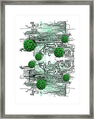 Data Virus Framed Print by Victor Habbick Visions
