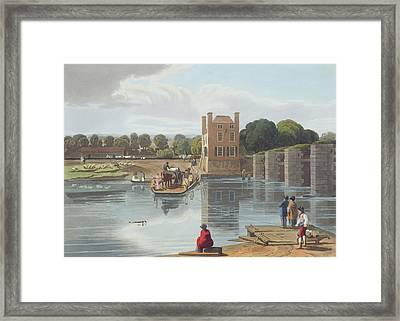 Datchet Ferry, Near Windsor, Engraved Framed Print