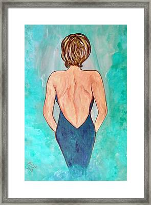 Framed Print featuring the painting Date Night by Ella Kaye Dickey