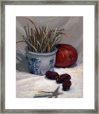 Dates Lemongrass And Mango Framed Print