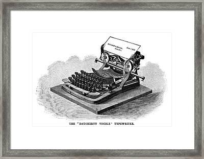 Daugherty Typewriter, 1895 Framed Print by Granger