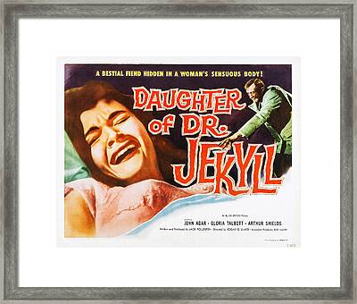 Daughter Of Dr. Jekyll, Us Lobbycard Framed Print by Everett