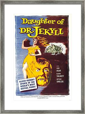 Daughter Of Dr. Jekyll, Us Poster Framed Print by Everett