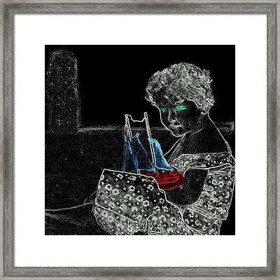 Daughter Of Neptune Man Ray Homage Framed Print by Brian King