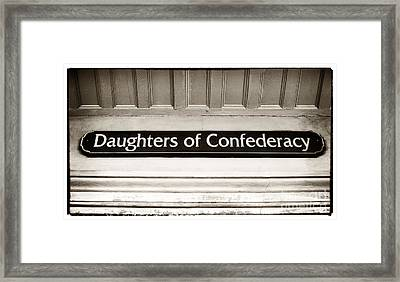Daughters Of Confederacy Framed Print by John Rizzuto