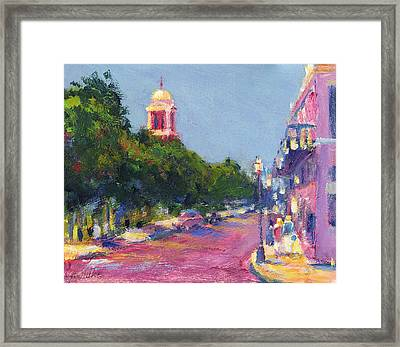 Dauphin At Cathedral Square Framed Print by Vernon Reinike