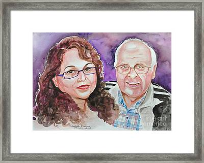 Dave And Cecile Framed Print