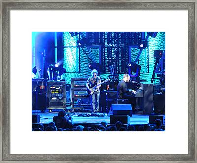 Dave And Tim Playing Out Of My Hands Framed Print by Aaron Martens