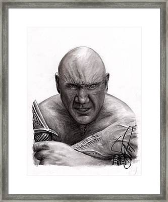 Dave Bautista Framed Print by Rosalinda Markle
