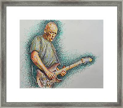 Dave Gilmour Framed Print by Breyhs Swan