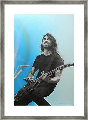 ' Dave Grohl ' Framed Print by Christian Chapman Art
