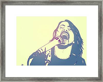 Dave Grohl Framed Print by Giuseppe Cristiano