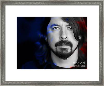 Dave Grohl Framed Print by Marvin Blaine