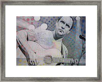 Dave Matthews All The Colors Mix Together Framed Print by Joshua Morton