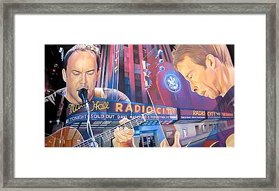 Dave Matthews And Tim Reynolds At Radio City Framed Print