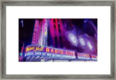Dave Matthews At Radio City Music Hall Framed Print