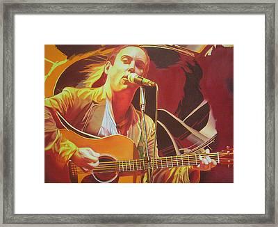 Dave Matthews At Vegoose Framed Print