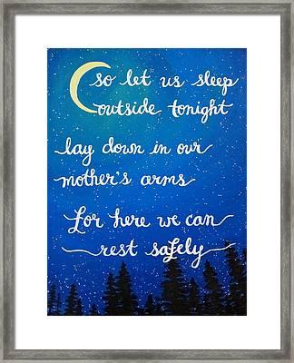 Dave Matthews Band Song Art So Let Us Sleep Outside Tonight Framed Print