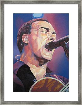 Dave Matthews Colorful Full Band Series Framed Print by Joshua Morton