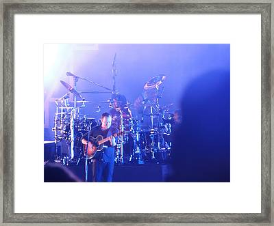 Dave Matthews Jamming In Tampa Flordia  Framed Print