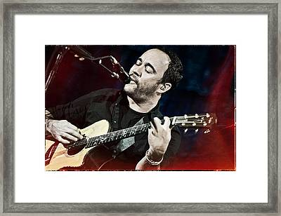 Dave Matthews Live At Farm Aid  Framed Print by Jennifer Rondinelli Reilly - Fine Art Photography