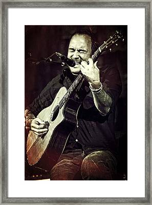 Dave Matthews On Acoustic Guitar 2 Framed Print by Jennifer Rondinelli Reilly - Fine Art Photography