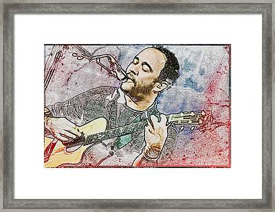 Dave Matthews On Acoustic Guitar 3 Framed Print by Jennifer Rondinelli Reilly - Fine Art Photography