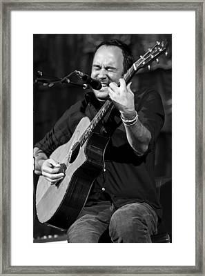 Dave Matthews On Guitar 1 Framed Print