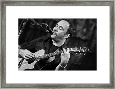 Dave Matthews On Guitar 2 Framed Print by Jennifer Rondinelli Reilly - Fine Art Photography