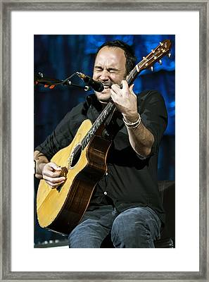 Dave Matthews On Guitar 3 Framed Print by Jennifer Rondinelli Reilly - Fine Art Photography