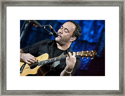 Dave Matthews On Guitar 6 Framed Print by Jennifer Rondinelli Reilly - Fine Art Photography
